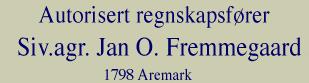 Siv AGR Jan O Fremmegaard